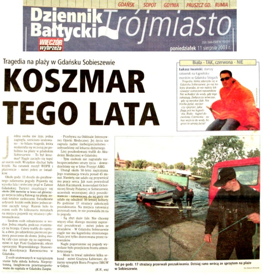 Dziennik Bałtycki 11.08.2003