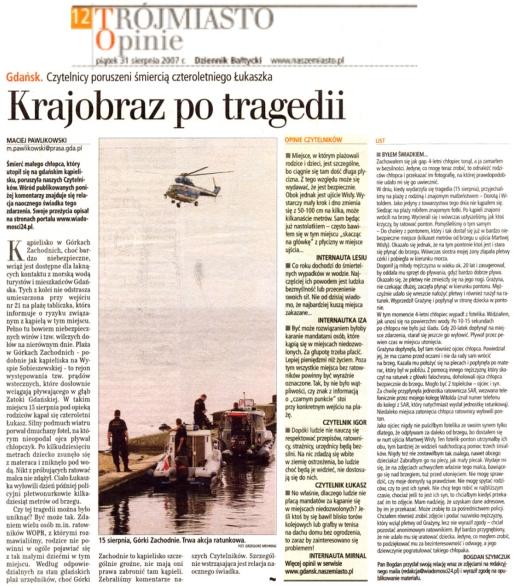 Dziennik Bałtycki 31.08.2007