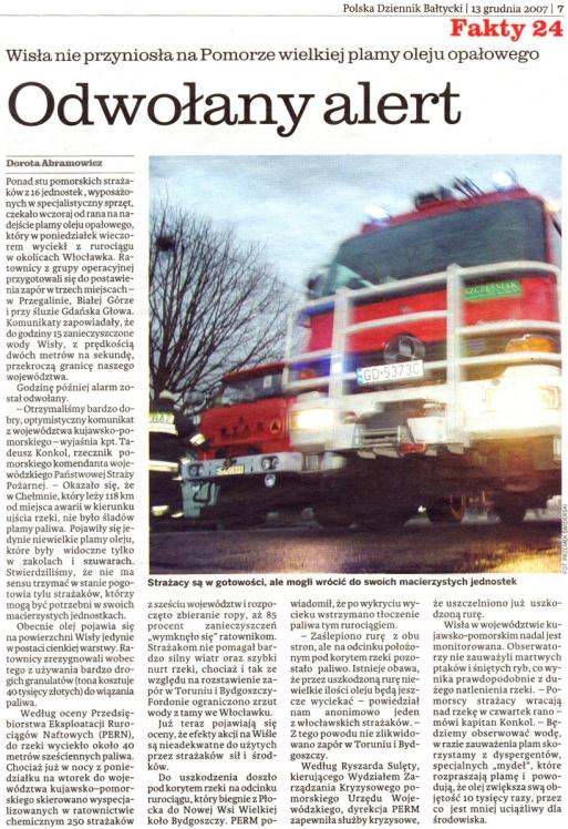 Polska Dziennik Bałtycki 13.12.2007